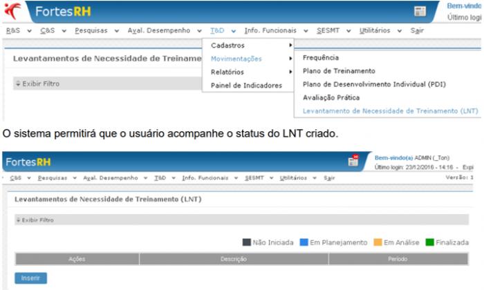 Sistema para Levantamento de Necessidades de Treinamentos (LNT) 1