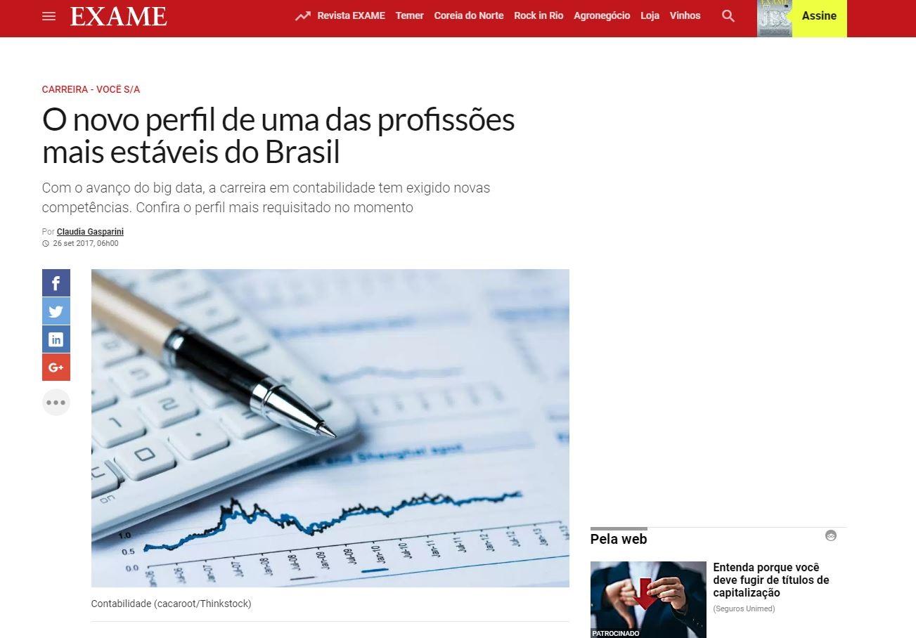 Fortes Tecnologia em pauta - O novo perfil do contador: uma das profissões mais estáveis do Brasil (Exame.com) 2