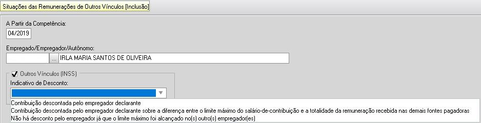 GFIP x DCTF Web: como informar os múltiplos vínculos nessas obrigações? 4